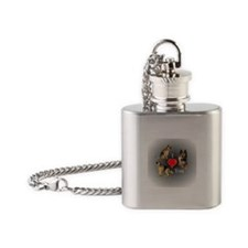I love You GSD Flask Necklace