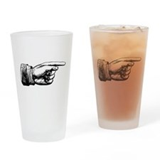 Old Fashioned Pointing Finger Drinking Glass