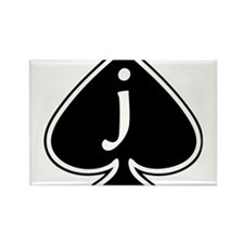 Jack Of Spades Rectangle Magnet