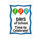 100th Day Balloon Time Postcards (Package of 8)
