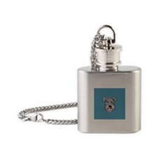 Fuzzy Face Schnauzer Flask Necklace