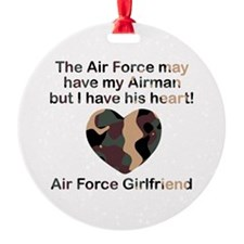 Air Force Girlfriend Heart Camo Ornament