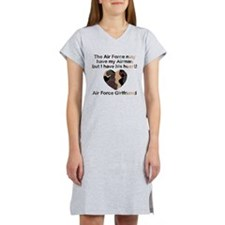 Air Force Girlfriend Heart Camo Women's Nightshirt