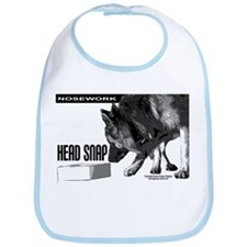 nose work german shepard dog Bib