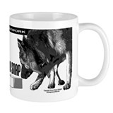 nose work german shepard dog Small Mug