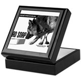 nose work german shepard dog Keepsake Box