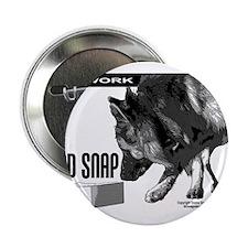 "nose work german shepard dog 2.25"" Button"