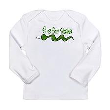 S Is For Snake Long Sleeve Infant T-Shirt