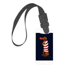 Dachshund Christmas Luggage Tag