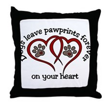 Pawprints Throw Pillow