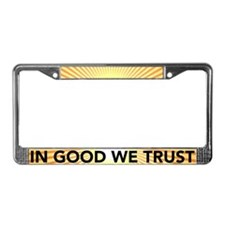in good we trust License Plate Frame