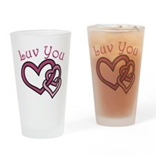 Luv You Drinking Glass