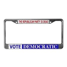 Repub Party Dead Vote Democra License Plate Frame