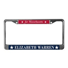Warren for Massachusetts License Plate Frame