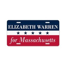 Warren for Massachusetts Aluminum License Plate