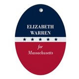 Warren for Massachusetts Ornament (Oval)