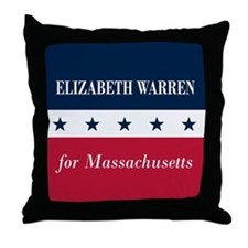 Warren for Massachusetts Throw Pillow