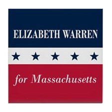 Warren for Massachusetts Tile Coaster