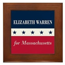 Warren for Massachusetts Framed Tile