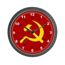 Cute Hammer sickle Wall Clock