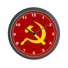Unique Hammer and sickle Wall Clock