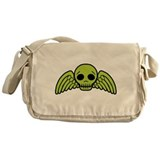 winged-skull_green.png Messenger Bag