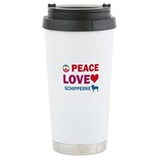 Peace Love Schipperke Ceramic Travel Mug