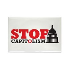 Stop Capitolism-2 Rectangle Magnet