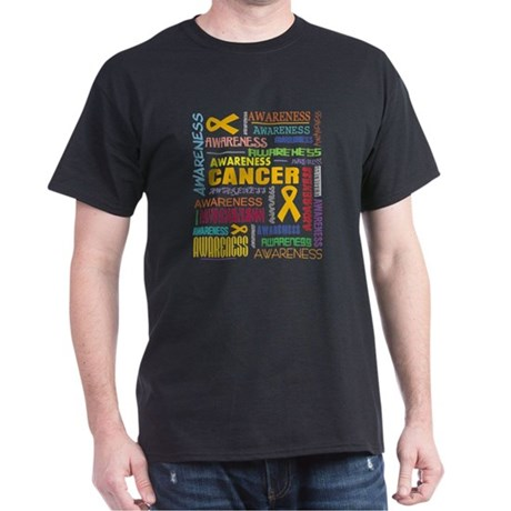 Appendix Cancer Awareness Collage Dark T-Shirt