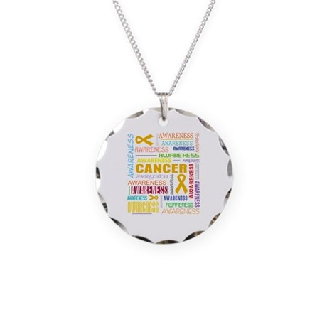 Appendix Cancer Awareness Collage Necklace Circle