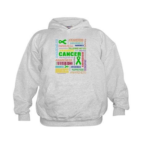 Bile Duct Cancer Awareness Collage Kids Hoodie