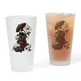 Gothic Geisha Drinking Glass