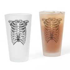 Ribcage Illustration Drinking Glass