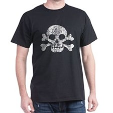 Worn Skull And Crossbones T-Shirt