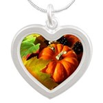 .elements of autumn. Silver Heart Necklace