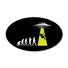 UFOvolution 35x21 Oval Wall Decal