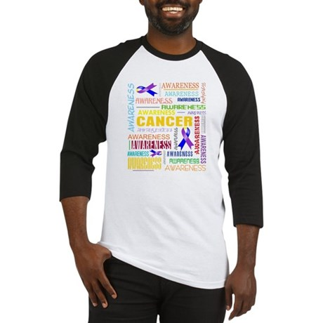 Bladder Cancer Awareness Collage Baseball Jersey