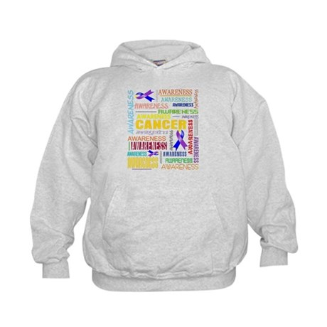 Bladder Cancer Awareness Collage Kids Hoodie