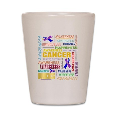 Bladder Cancer Awareness Collage Shot Glass