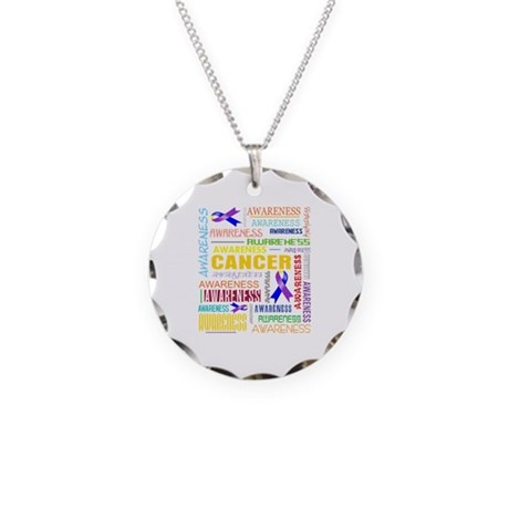 Bladder Cancer Awareness Collage Necklace Circle C