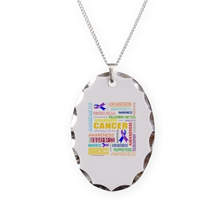 Bladder Cancer Awareness Collage Necklace Oval Cha