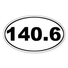 140.6 Ironman Oval Decal