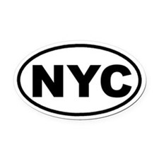 Cute Nyc Oval Car Magnet
