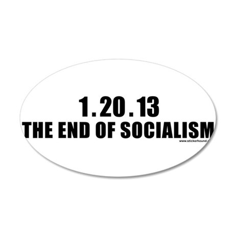 endofsocial_white.png 20x12 Oval Wall Decal