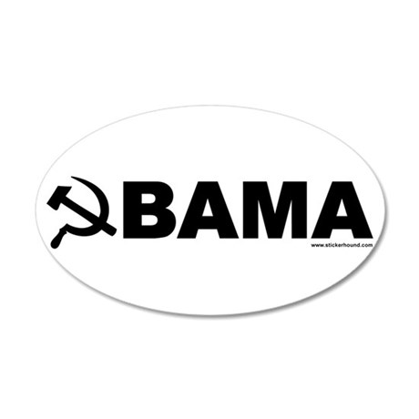 obamarussian_whiteblack.png 20x12 Oval Wall Decal