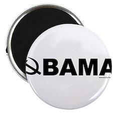 """obamarussian_whiteblack.png 2.25"""" Magnet (100 pack"""