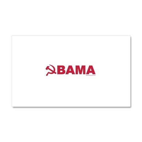 obamarussian_whitered.png Car Magnet 20 x 12