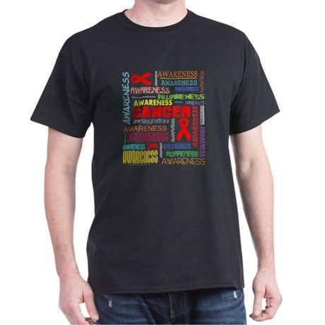 Blood Cancer Awareness Collage Dark T-Shirt