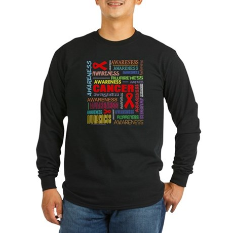 Blood Cancer Awareness Collage Long Sleeve Dark T-