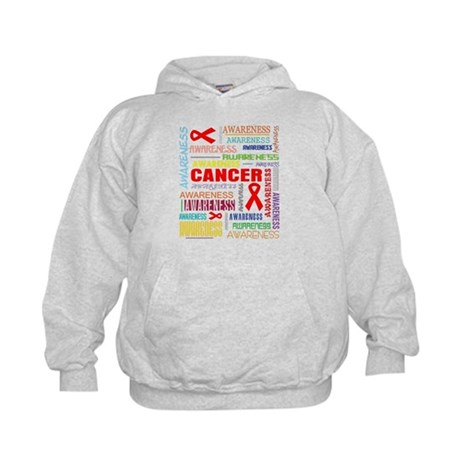 Blood Cancer Awareness Collage Kids Hoodie